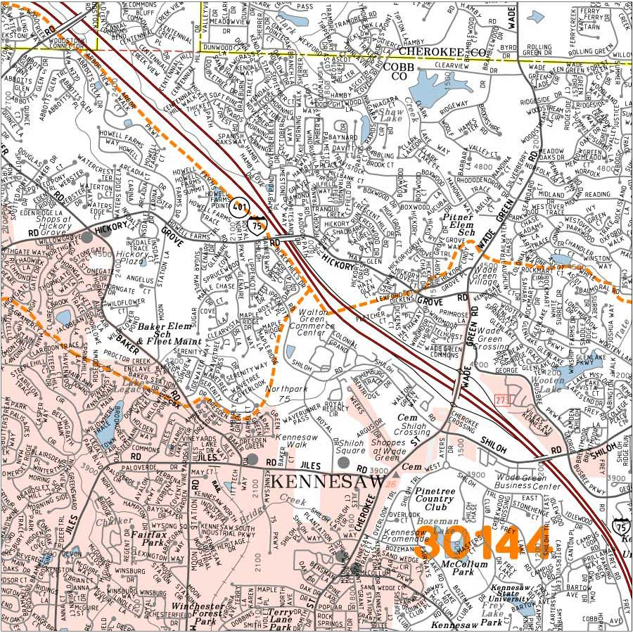 Dekalb Zip Code Map.Georgia County Wall Map Dekalb County Georgia Wall Map