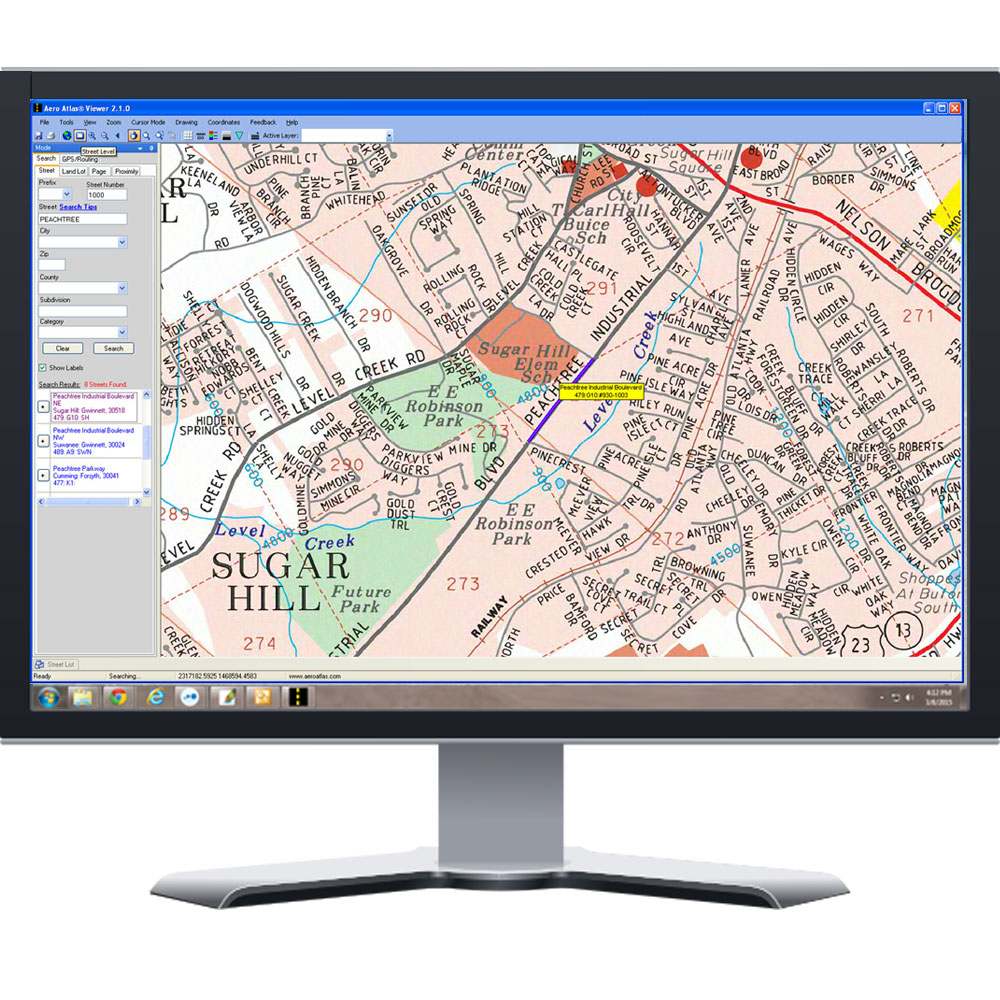 Aero Atlas Viewer Software With (1) Free Data Coverage Area